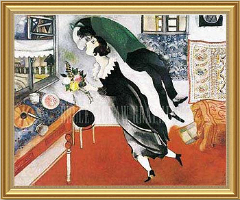 the kiss by Marc Chagall