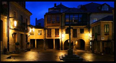 Fotografía da Praza da Leña de Pontevedra