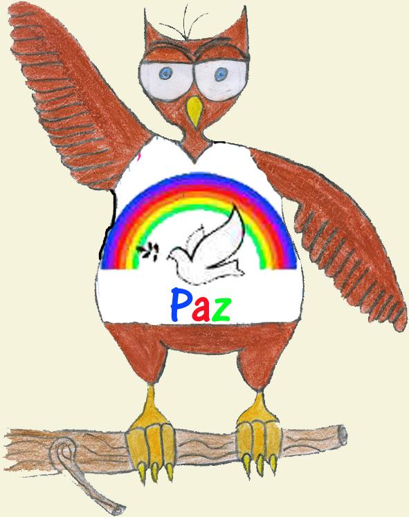 Moucho Frianón coa camiseta da Paz